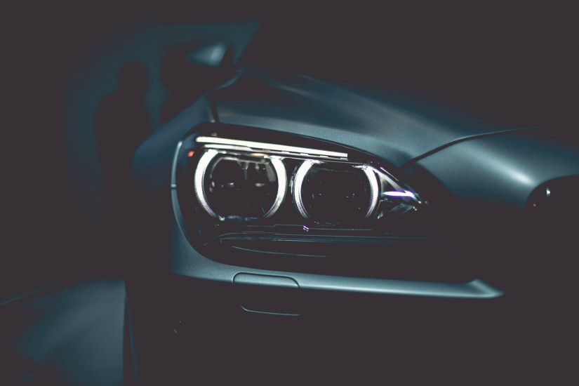 Preview wallpaper bmw, headlights, black, style 2560x1600