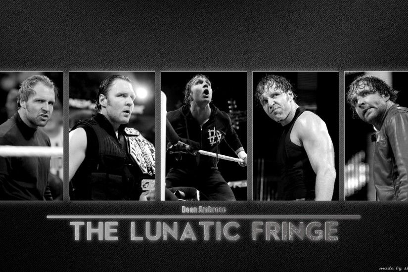 ... Dean Ambrose - The Lunatic Fringe Black and White by SkarrDWar