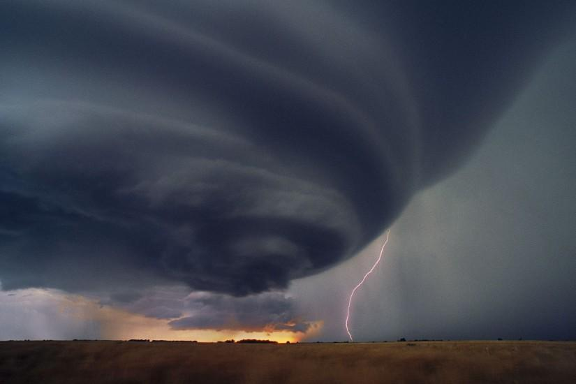 Pix For > Supercell Thunderstorm Wallpaper