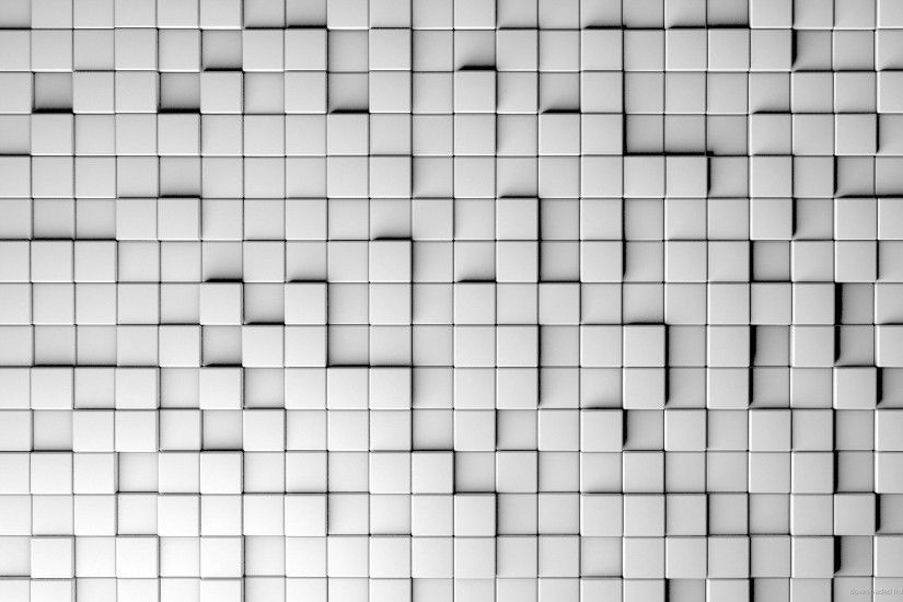 1440x900 3D White Cubes Desktop Wallpaper wallpaper