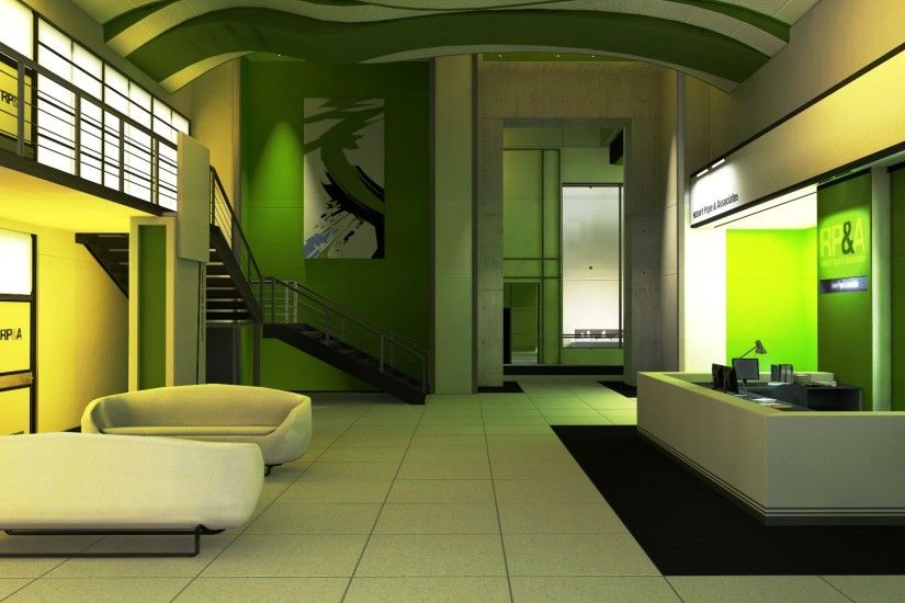 Mirror's Edge Interior Design HD Wallpaper