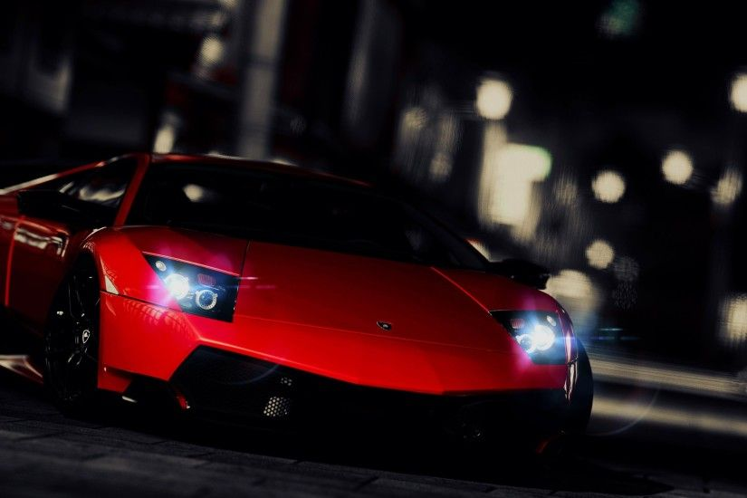 Awesome Red Lambo Wallpaper