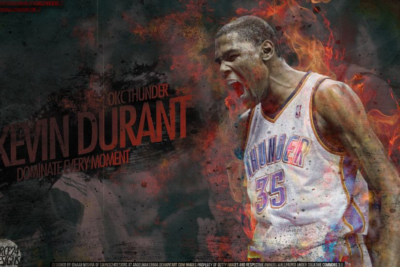 NBA Photo as Computer Wallpaper - Kevin Durant on Fire, Thunder is Top Team!