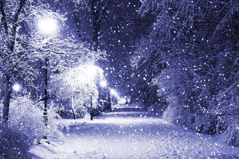 Merry Tag - Quiet Merry Snow Evening Christmas Eve Peaceful Night Park  Nature Lights White Forever