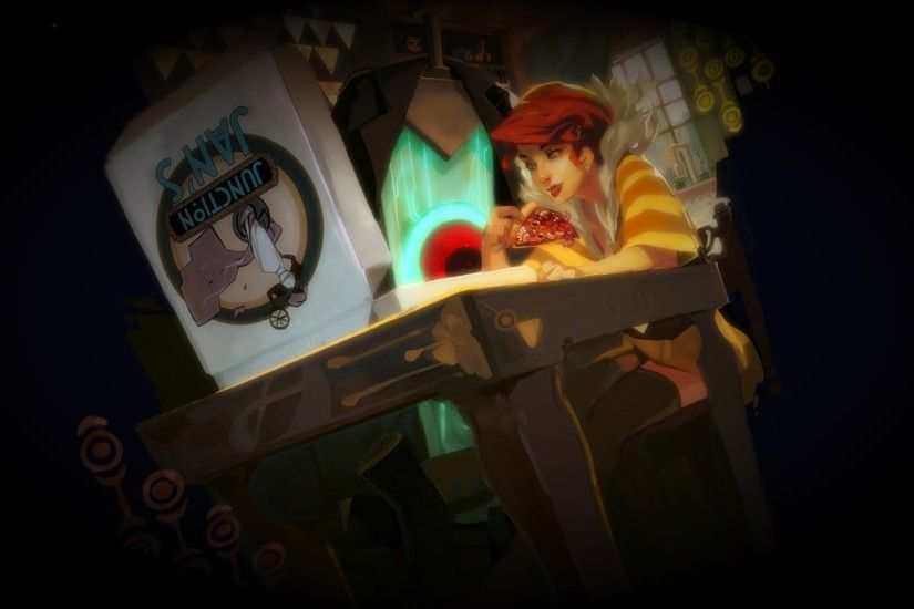 Having Junction Jan's flatbread at Red's apartment (1920×1080) #Transistor  Wallpaper | Transistor Wallpapers | Pinterest | Apartments, Wallpaper and  Game ...