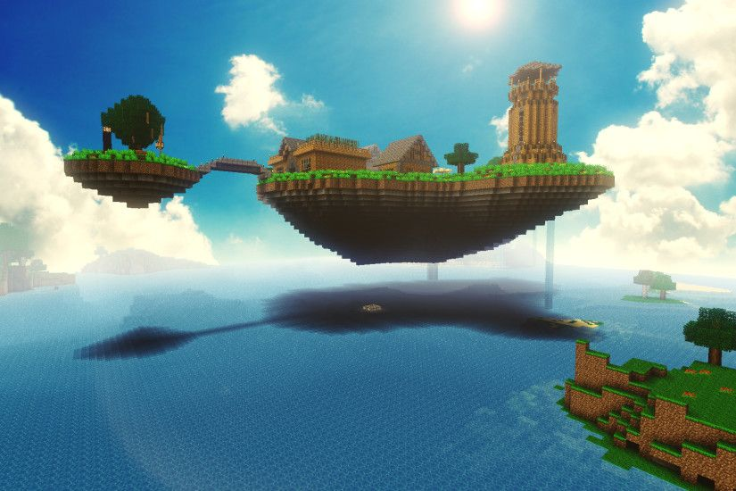 Video Game - Minecraft Mojang Video Game Floating Island Wallpaper