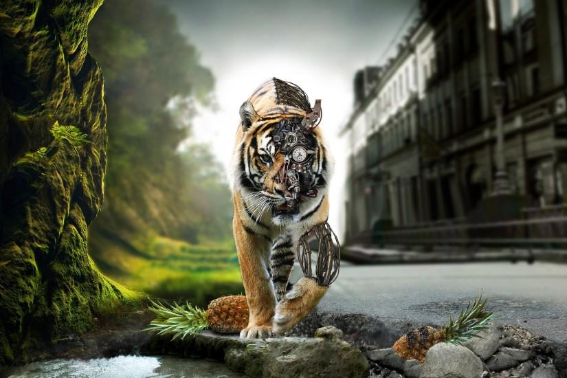 3D Tiger Bionic HD Wallpaper 3D Tiger Bionic HD Wallpaper