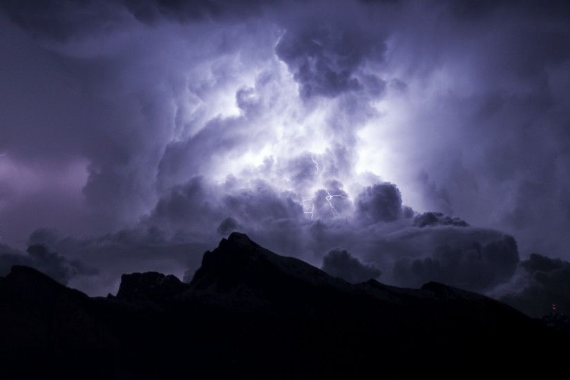 2560x1080 Wallpaper clouds, thunderstorm, overcast