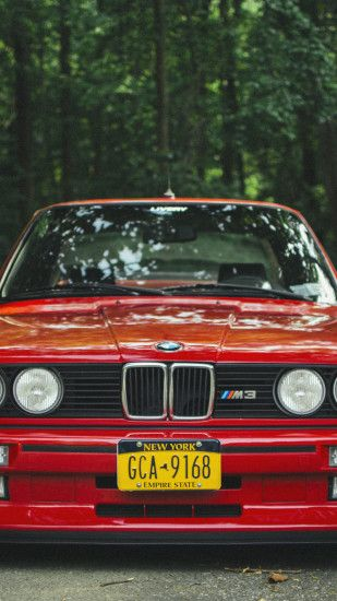 1080x1920 Wallpaper bmw, e30, m3, red, tuning