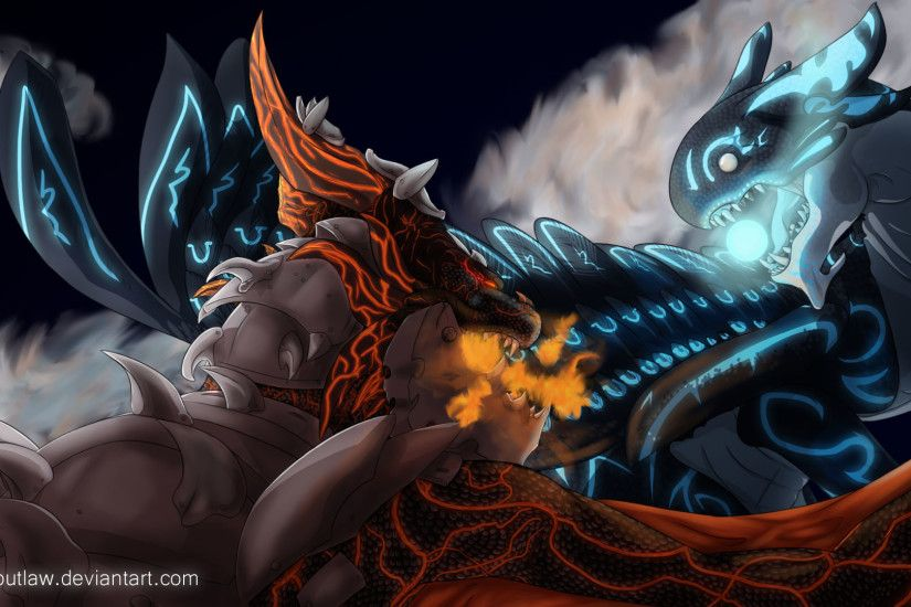 Deathwing VS Acnologia by TempoStorm