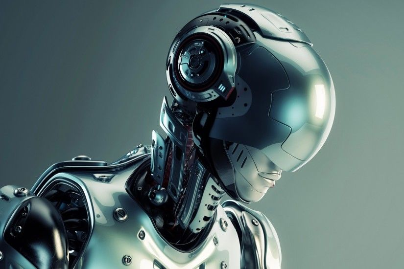 digital Art, Robot, 3D, Technology, Futuristic, Science Fiction, Metal,  Simple Background, Screw, CGI Wallpapers HD / Desktop and Mobile Backgrounds
