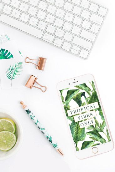 """Tropical Vibes Only"" Wallpaper 