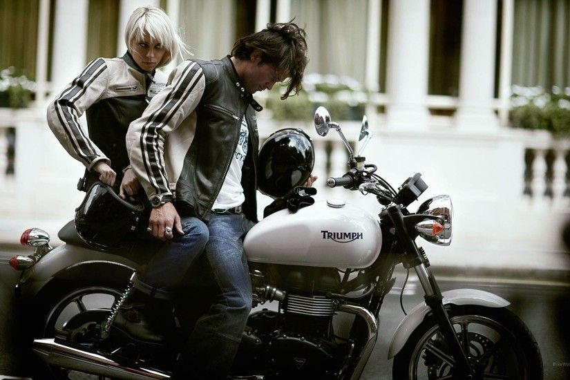 Wallpaper, The Images of Motorcycles Triumph Bonneville Triumph .