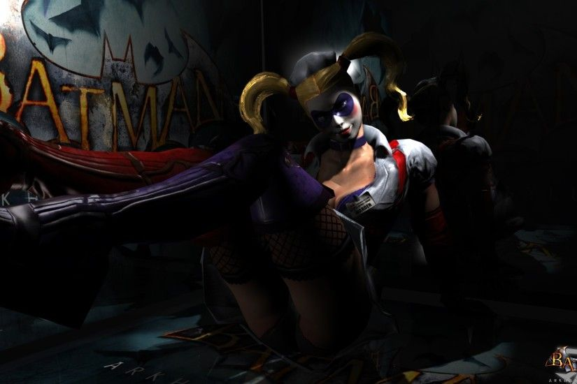 Harley Quinn Batman Arkham City Asylum wallpaper