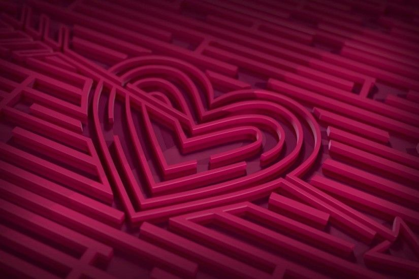 Cool love heart HD wallpaper.