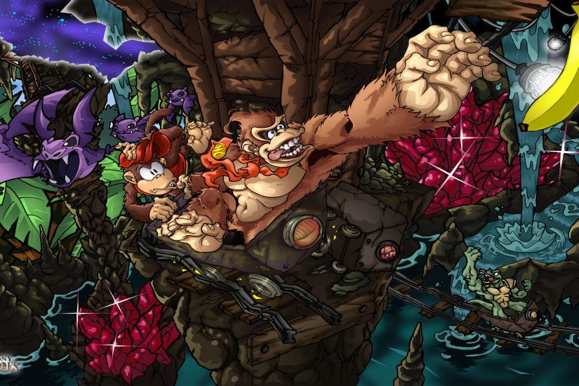 Video Game - Donkey Kong Country Donkey Kong Diddy Kong Wallpaper