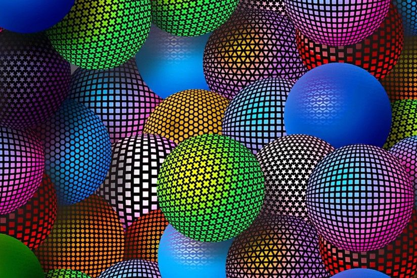 Beautiful 3D ball wallpaper