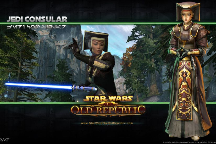 star wars the old republic jedi consular widescreen wallpaper