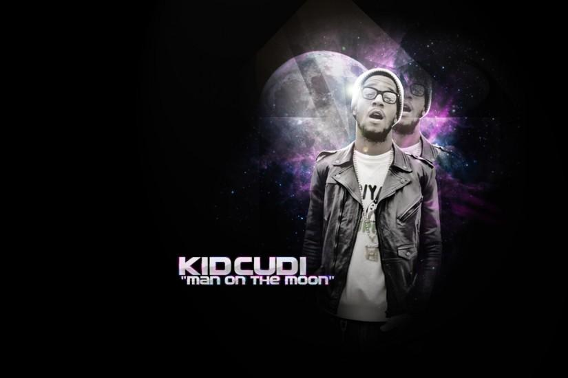 Preview wallpaper kid cudi, glasses, rap, jacket, letters 1920x1080