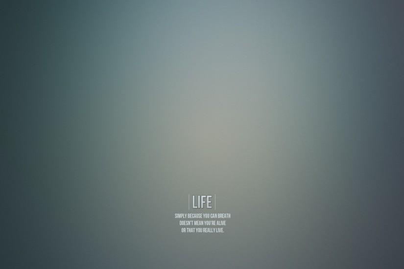 The meaning of life, gray background, lettering