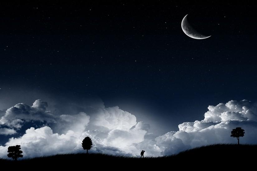 download free moon background 1920x1200