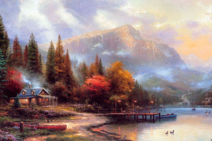 best images about The Painter Of Light Thomas Kinkade on
