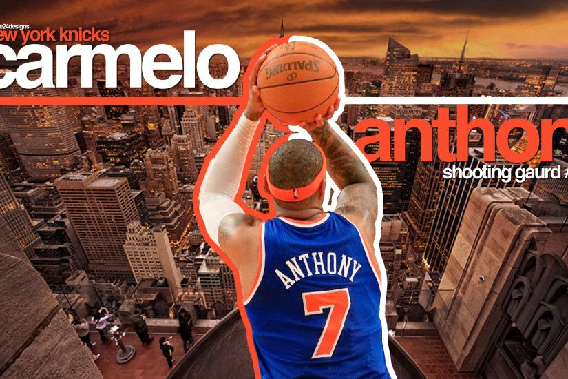 Amusing Carmelo Anthony New York Knicks Hd Nba Basketball Shooting Guards  Sport Wallpaper