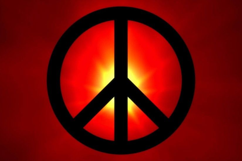 Peace backgrounds free download hd video backgrounds abstract black peace sign infront of a red lens flare voltagebd Gallery