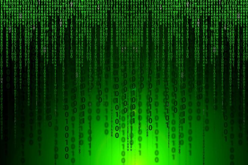 Black green Matrix movie wallpaper.