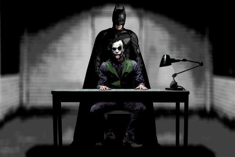 Joker And Batman - The Dark Knight Rises