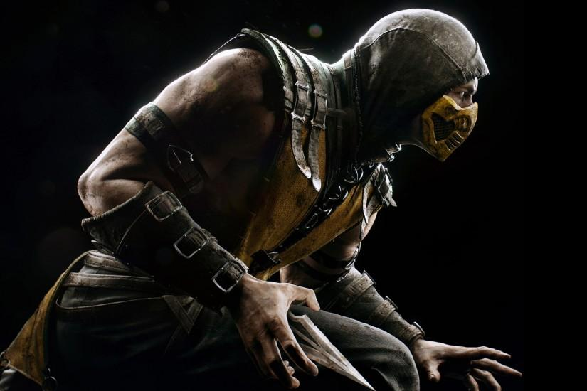 Preview wallpaper mortal kombat x, scorpio, ninja, pose 2560x1440