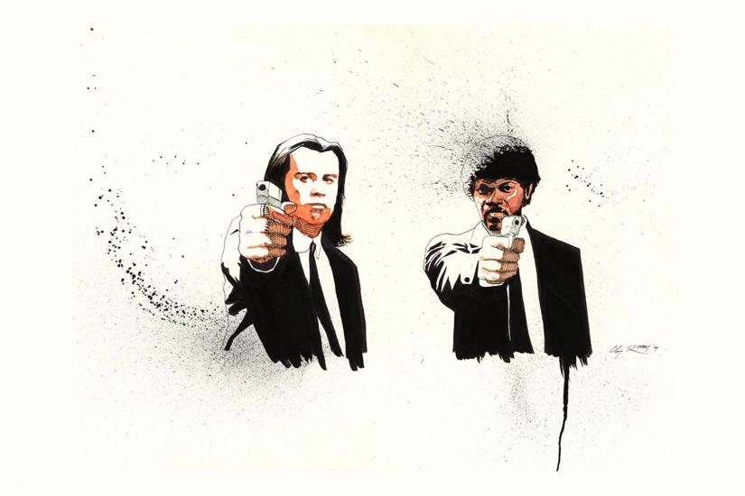 Fan-art Movies Pulp Fiction Quentin Tarantino Wallpaper