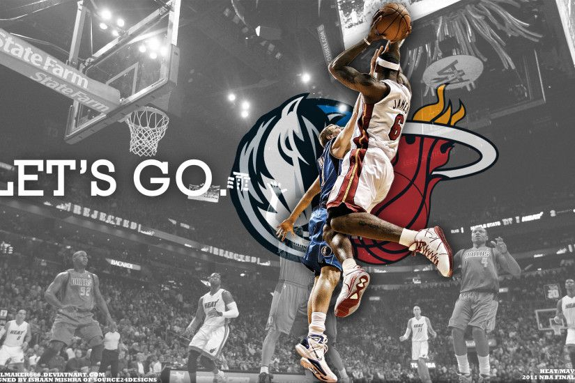 LeBron vs Dirk 2011 NBA Finals Widescreen Wallpaper