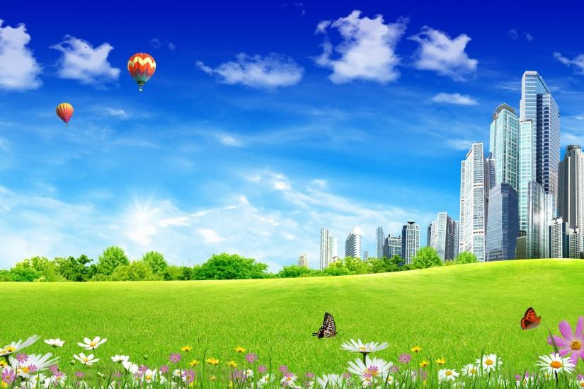 Free Scenery Wallpaper Of City Life | Free Wallpaper World