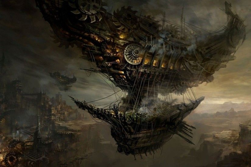 Steampunk blimp HD Wallpaper 1920x1080