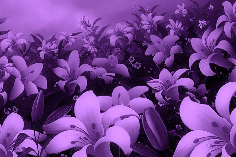 Wallpapers For > Cute Purple Flowers Backgrounds
