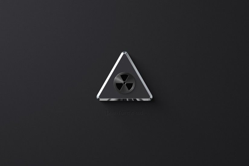 Minimalistic radioactive artwork sign wallpaper