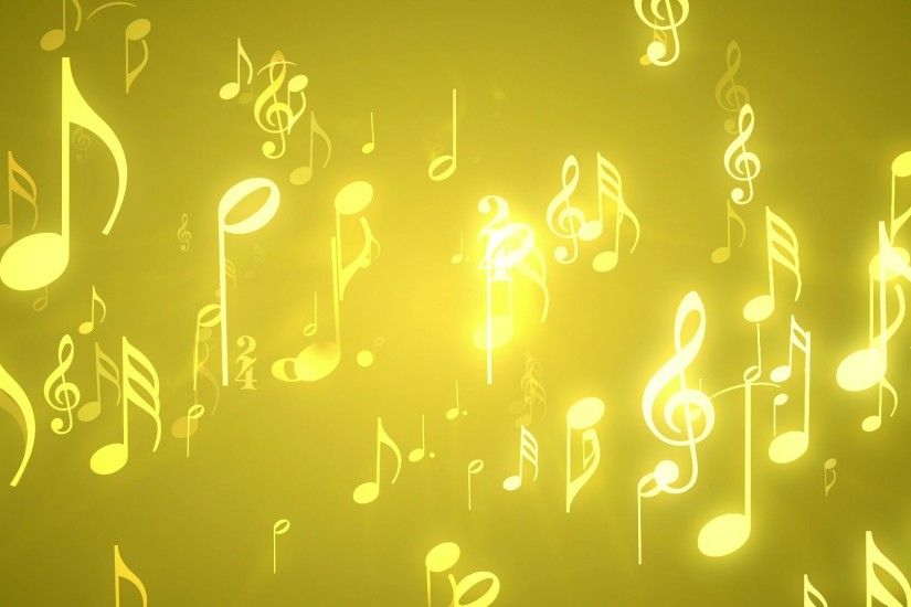 'Musical Notes Gold' - Music Themed Motion Background Loop_SampleStill