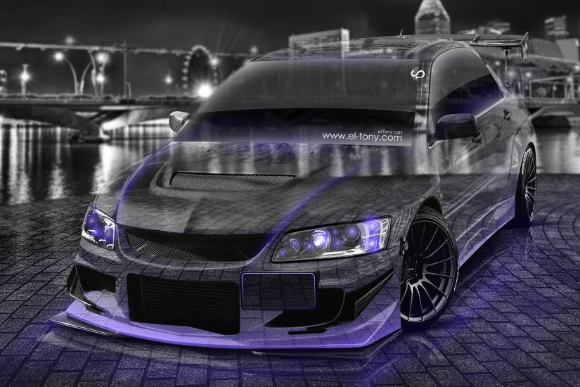 Mitsubishi-Lancer-Evolution-JDM-Tuning-3D-Crystal-Night-