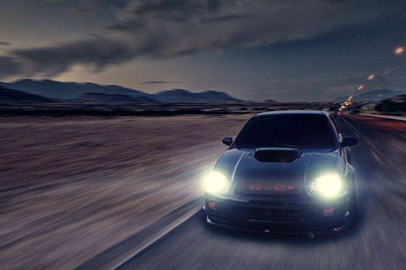Cars subaru roads vehicles impreza wrx sti wallpaper