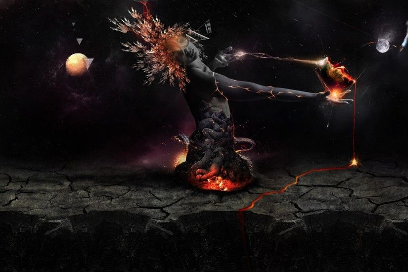Destruction – Earth Planets Fire Wallpaper At Fantasy Wallpapers