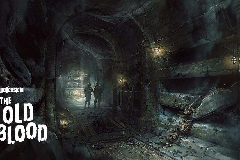 Skeleton in the catacombs - Wolfenstein: The Old Blood wallpaper 1920x1080  jpg