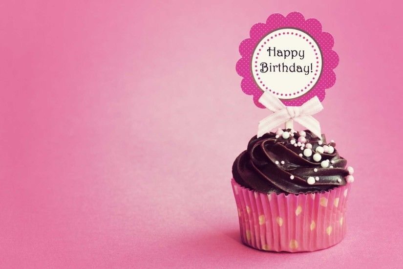 Birthday With Pink Cup Cake | HD Birthday Wallpaper Free Download ...