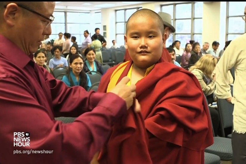 This nine-year-old boy is destined to become a spiritual leader