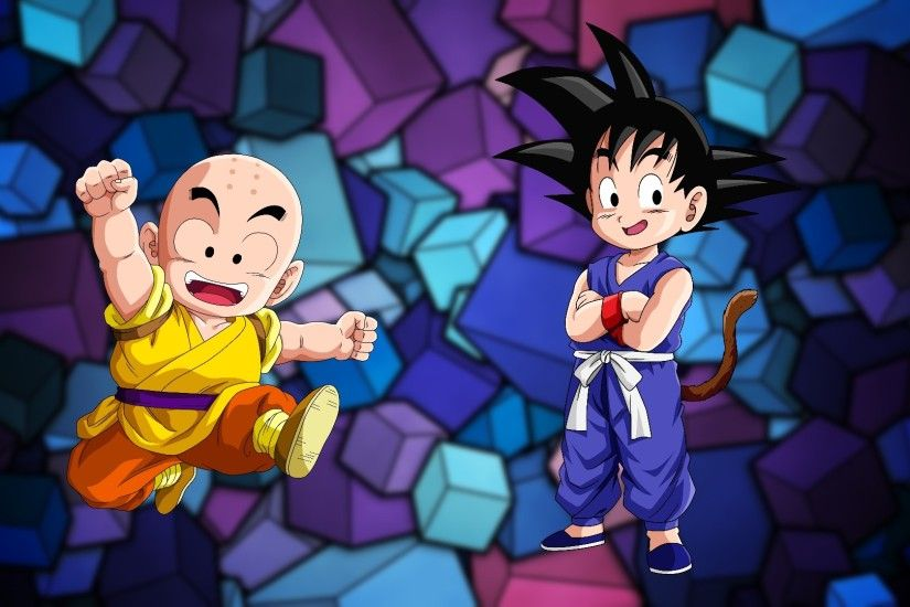 ... Kid Goku y Kid Krillin (Remastered) by SuperAgua