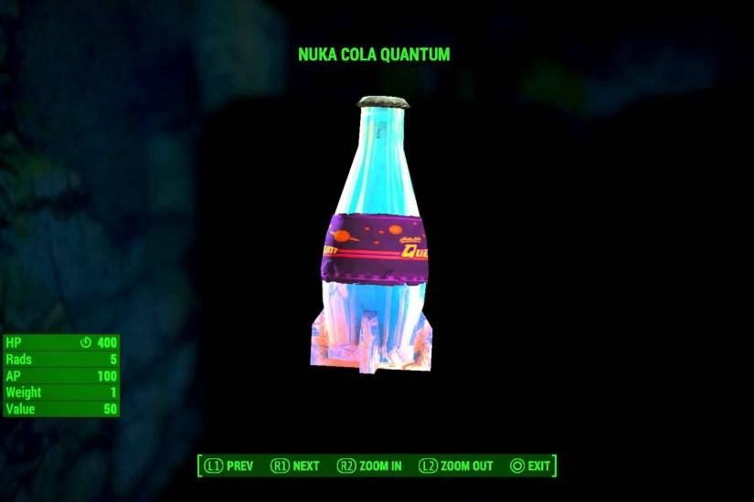 Fallout 4 - Nuka Cola Quantum & Sugar Bombs Appearance Information Details  Gameplay Sequence PS4