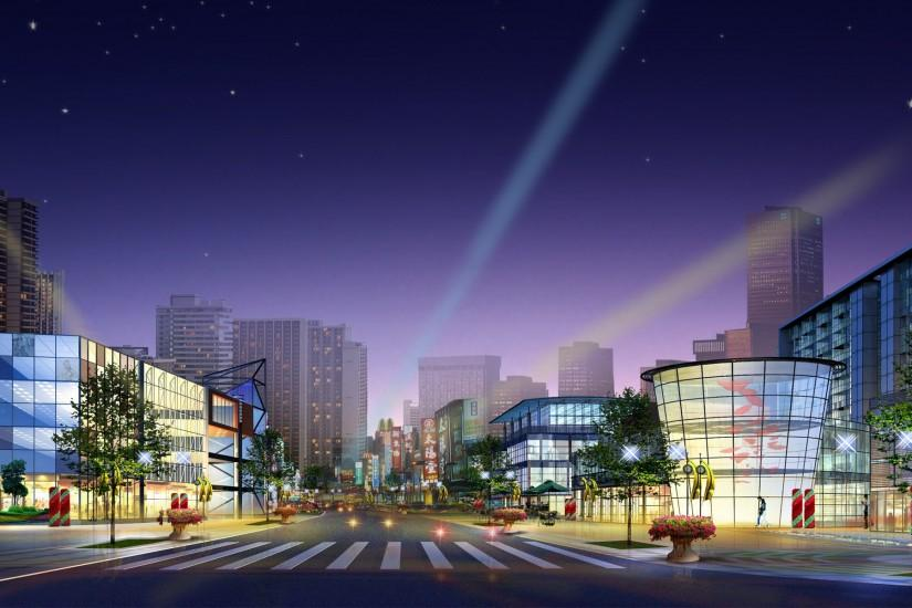 widescreen city background 1920x1200 for mobile hd