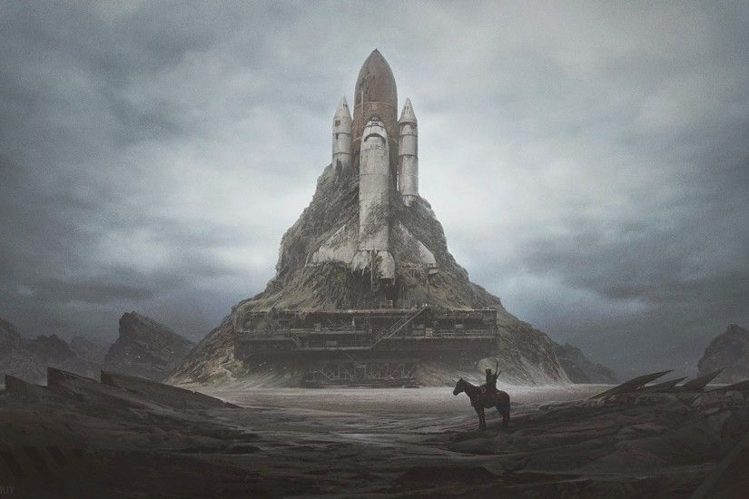 launch Pads, Space Shuttle, Wasteland, Apocalyptic, Dystopian, Horse  Wallpapers HD / Desktop and Mobile Backgrounds