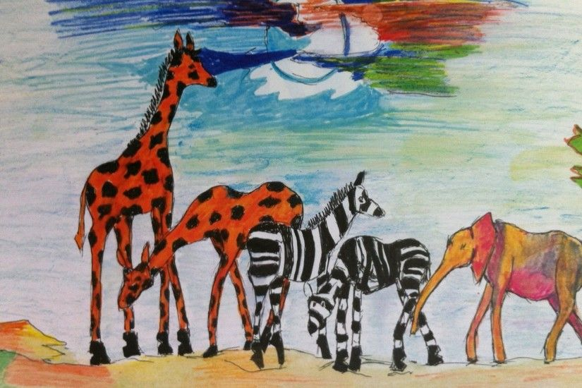 Africa, Arts, Drawing, African Art, African Art Drawing, African Wild  Animals