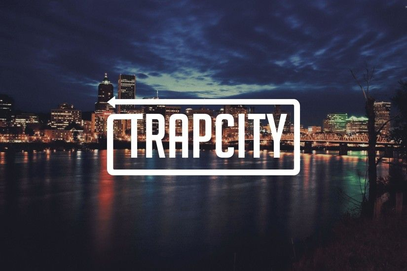 Trap City in a cloudy city night wallpaper - Music wallpapers - #40111